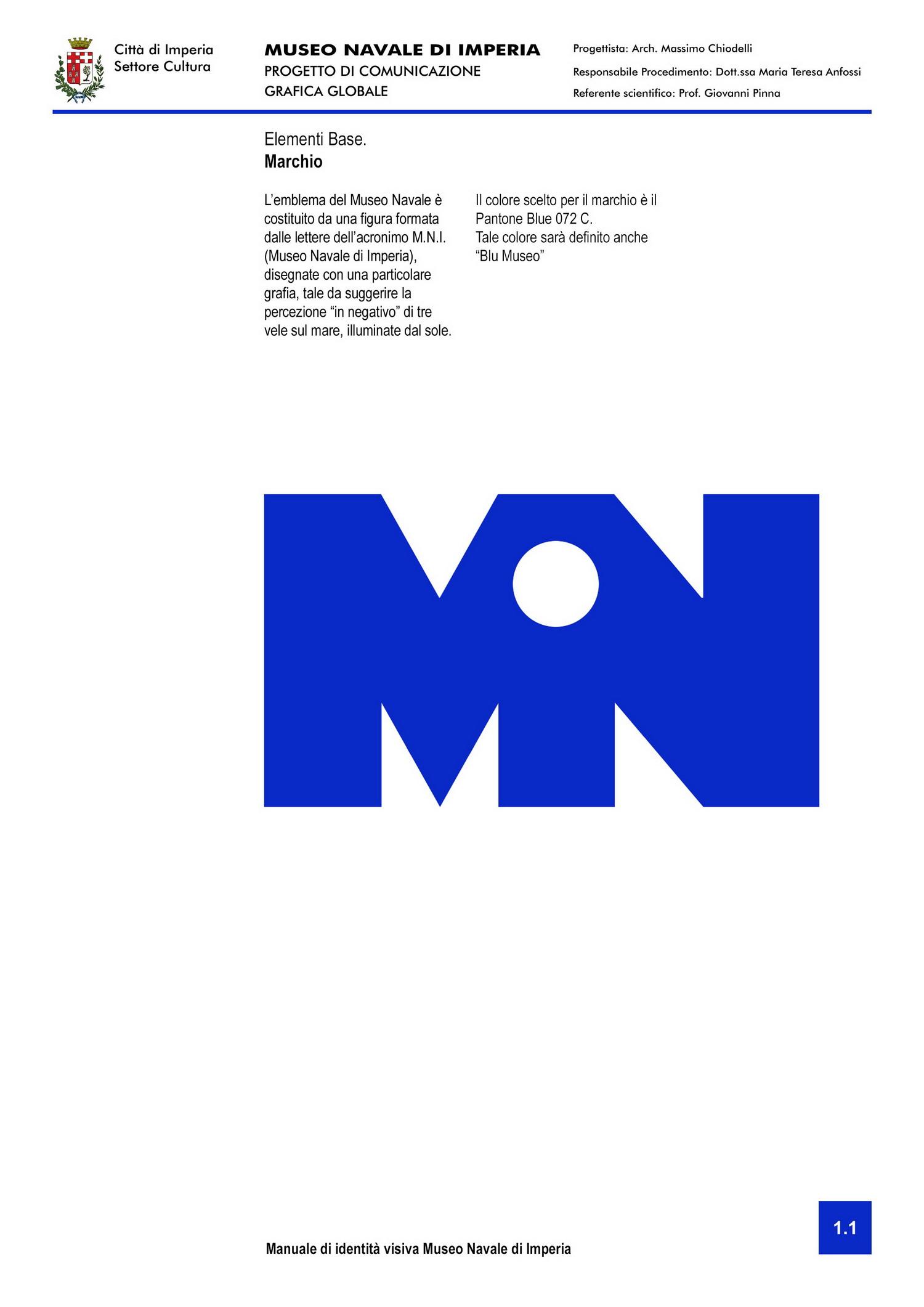 Museo Navale di Imperia - studio del marchio