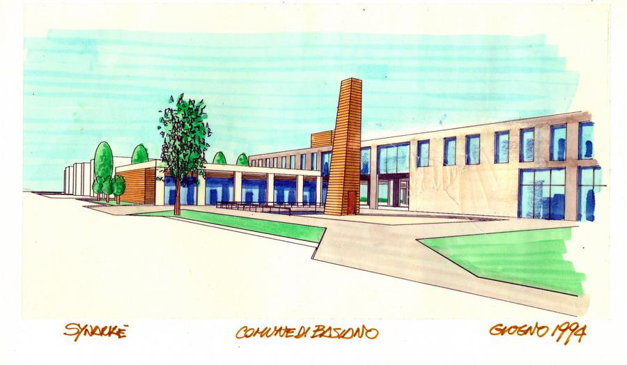 Palazzo Comunale di Basiano - schizzo preliminare