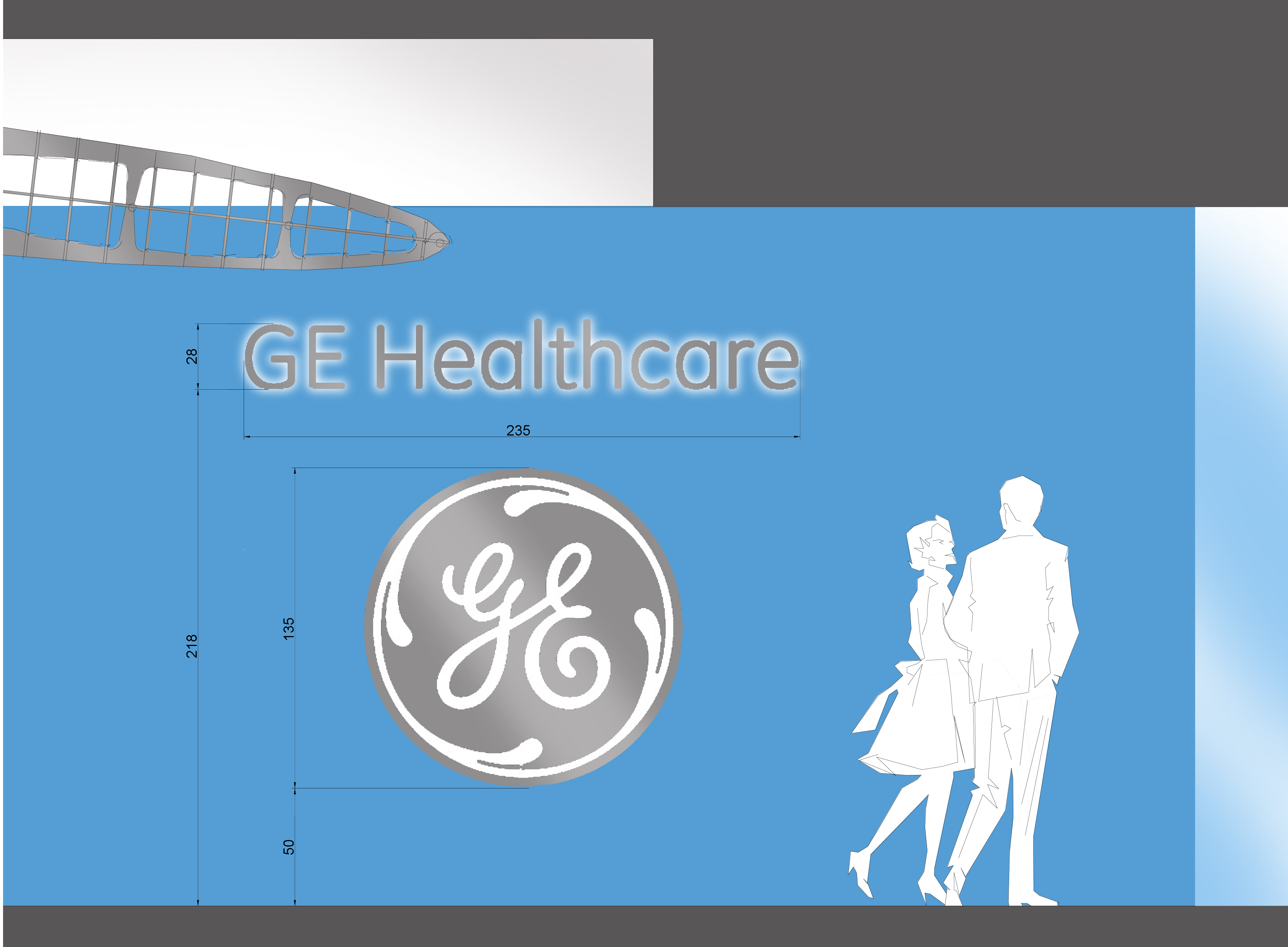 GE Healthcare Milano - studio per insegna