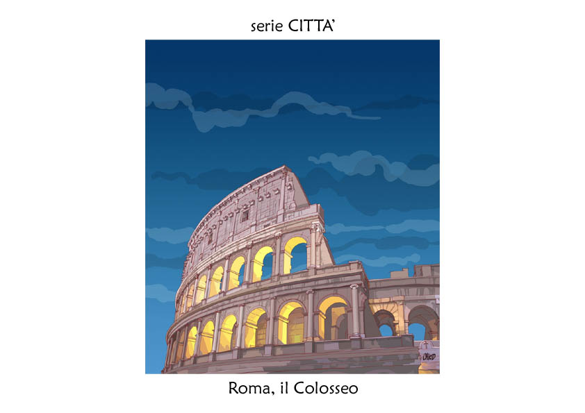 serie CITTA' Roma colosseo