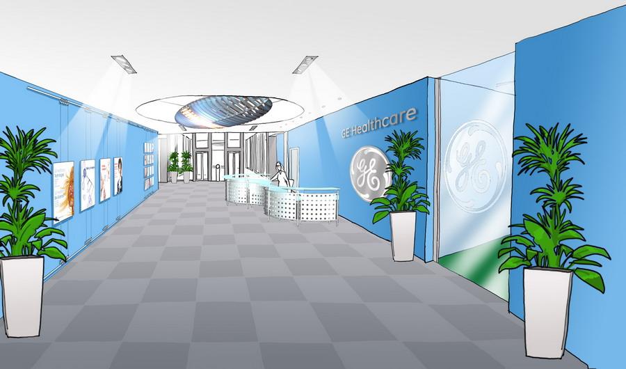 GE Healthcare Milano - studio per ingresso